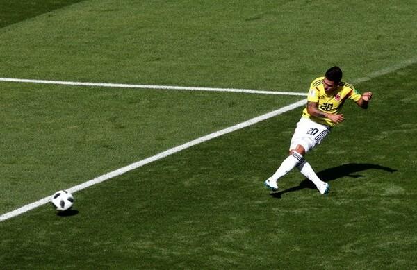 ハメスの代役として先発し、直接FKを決めたキンテーロ