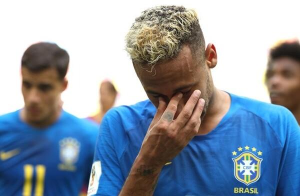 W杯第2戦、コスタリカに勝利した試合後に涙を流したネイマール