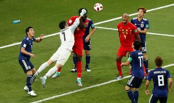 日本はこの試合、ベルギーに22本のクロスを許した