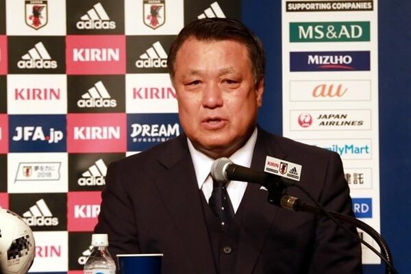 「慰留はしなかった」と西野監督の続投を否定した田嶋会長