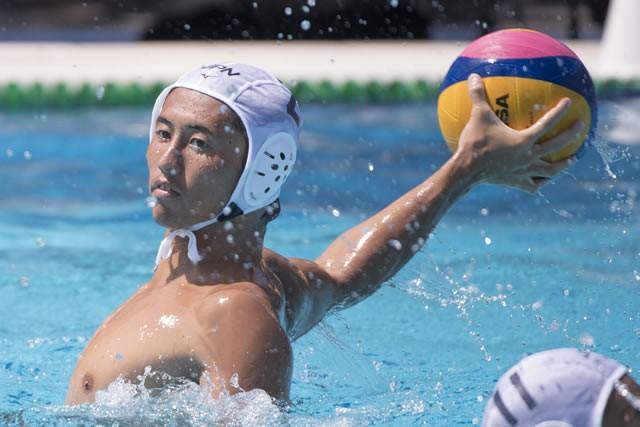 水球の足立聖弥。世界大会でも物おじしない活躍を見せるなど、2020年東京大会の中心となるであろうプレーヤーだ