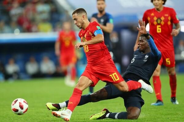 ブラジルを破って4強まで勝ち進んできたベルギーは、この試合でもフランスをかく乱しようと試みたが……