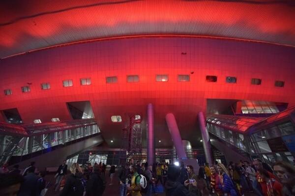試合後のスタディオン・サンクトペテルブルク。4日後、再びここでベルギーのゲームが見られる