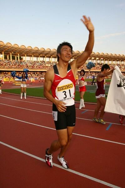 走ることのすばらしさを伝えること、その一環として朝原さんはチャレンジを続けていく
