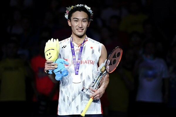 今年代表に復帰した桃田。圧倒的な強さで、日本男子初の世界選手権優勝を飾った