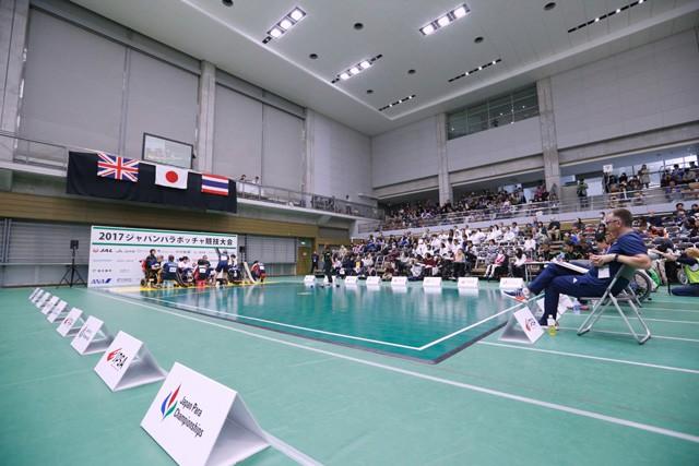 コート1面で行われた昨年のジャパンパラリンピック。大いに盛り上がり、手応えを得たという