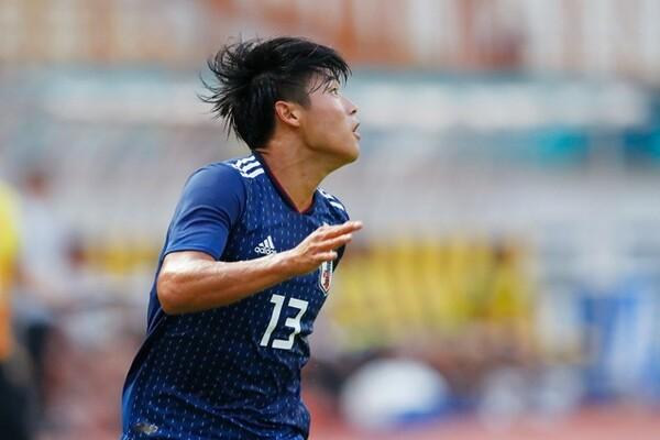 先制点を挙げた岩崎。日本は失点後も動揺を見せなかった