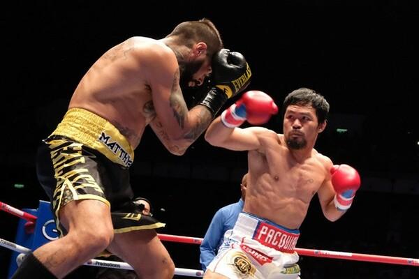 ボクシング界のスーパースター、マニー・パッキャオ(右)とも何度も話をしており、ONEのリングに上がる可能性も探っている