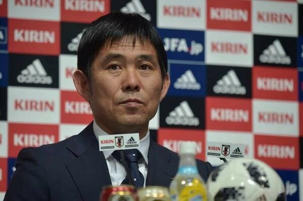 日本代表のメンバー発表会見に出席した森保一監督
