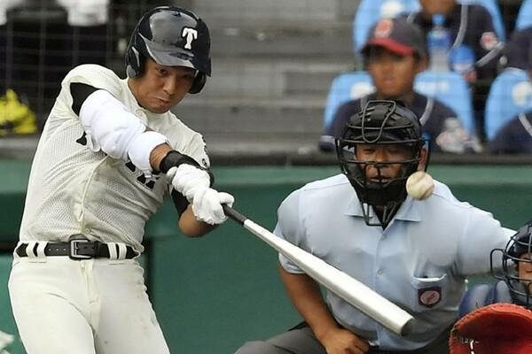 主将として大阪桐蔭を春夏連覇に導いた中川。U−18でも主将を務めた。