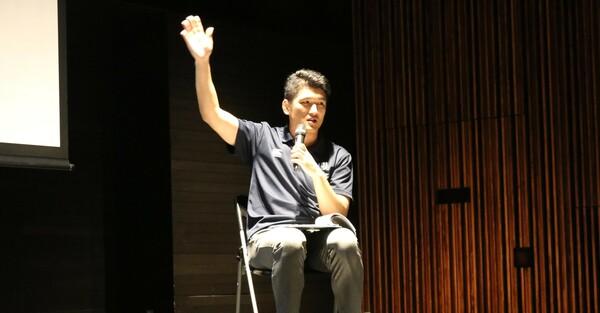 ラグビーワールドカップ2019組織委員会の佐藤洋平氏が講演を行った