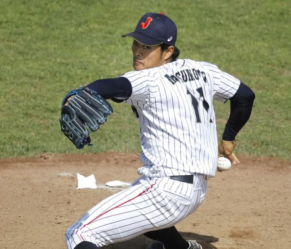 松本は先発としての完成度が高く、大学ジャパンでもエース格を務めた