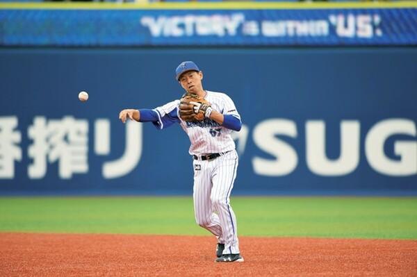 現役生活のほとんどが二塁手での出場。コンビを組む遊撃手には恵まれたと話す