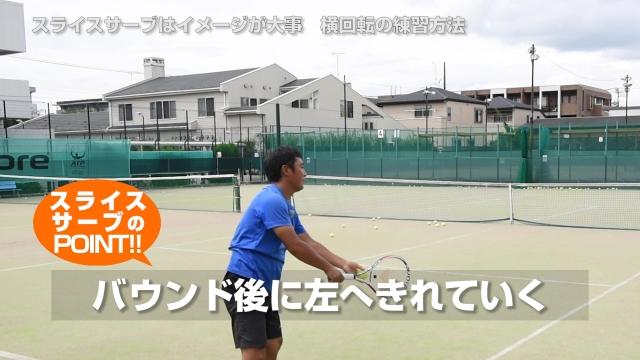 簡単!スライスサーブは体の向きとイメージで打つだけ テニスが変わる基礎レッスン