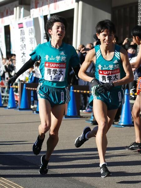 6区の小野田(左)と7区・林(右)の実力者がともに区間賞を獲得。冷静なレース運びが光った