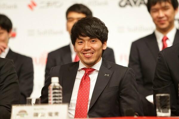 篠山は連敗中でも支えてくれたファンに感謝の言葉を述べた