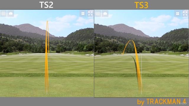 TS2と比べて左へのミスショットが頻出
