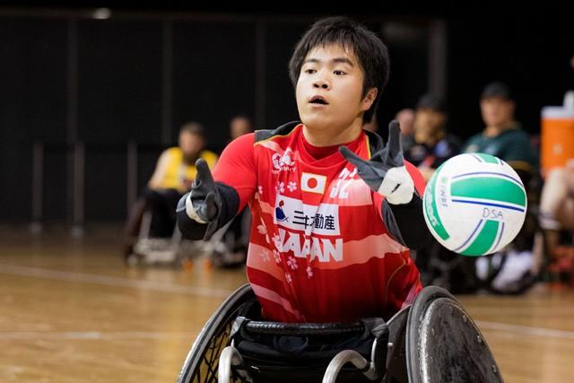 """ウィルチェアーラグビー""""期待の星""""橋本勝也。昨夏の世界選手権優勝メンバーに名を連ねた16歳だ"""