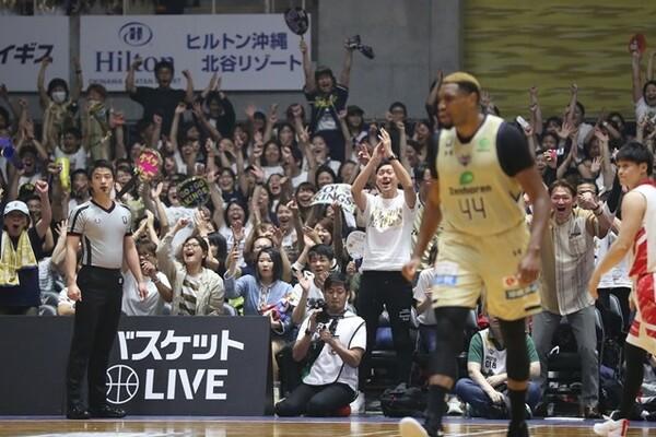 ホームの大歓声をバックに戦うことができる琉球