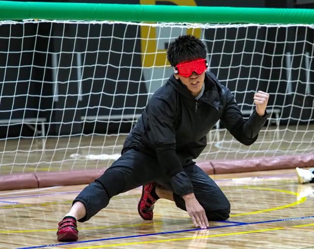 バウンドボールを有効に使い、日本代表チームから3得点した武井さん