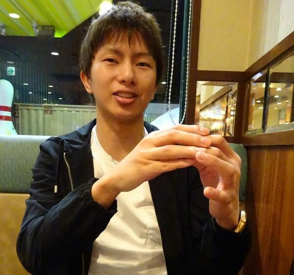 インタビューに答えてくれた田口。初めて拳を合わせたスパーリングで「衝撃」を覚えたという