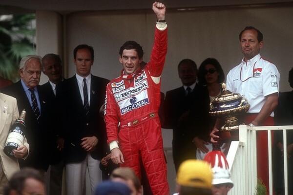 モナコGP最多6勝を挙げたセナ。6勝のうち4度はフロントロウからの優勝だった