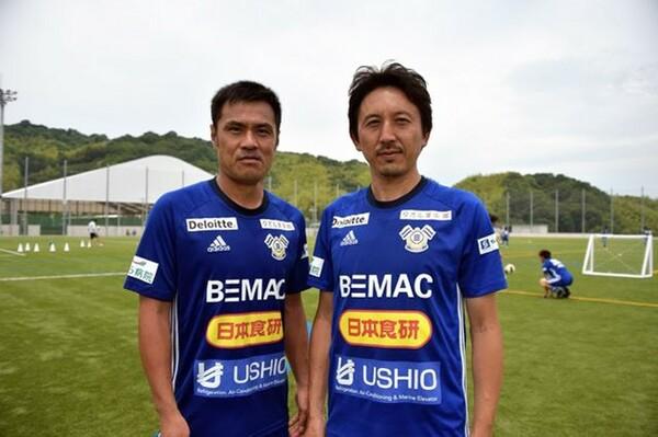 元日本代表の駒野(左)と橋本。2人が今治にもたらすものとは?