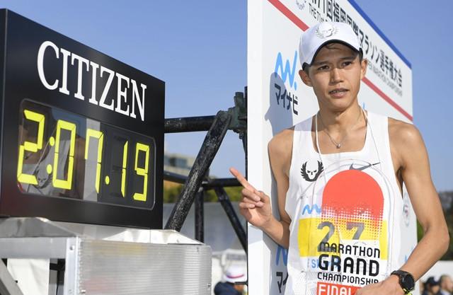 男子マラソン日本記録保持者の大迫傑は2017年の福岡国際でMGC出場権を獲得