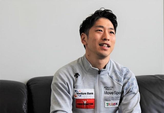 12年のロンドン五輪で5位入賞を果たし、東京五輪出場を目指す上山容弘がトランポリン観戦の楽しみ方を語る