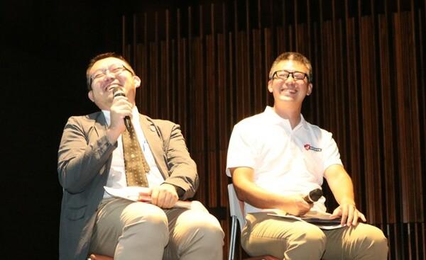 この日の登壇者は日本テレビ・渡辺氏(左)とJ SPORTS・大谷氏