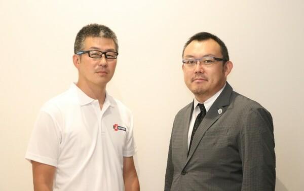 ラグビーに対する熱い思いを語る大谷氏(左)と渡辺氏