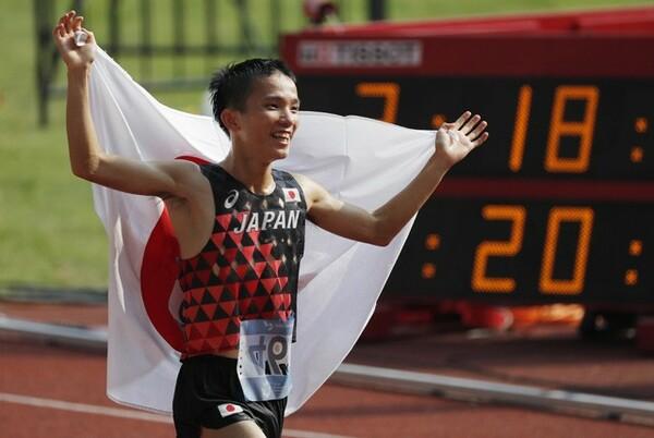 MGCも、来夏の東京五輪も、暑さ対策が勝敗を分けるのは必至。MGCファイナリストはどのような対策が必要なのだろうか(写真はアジア大会で金メダルに輝いた井上大仁)