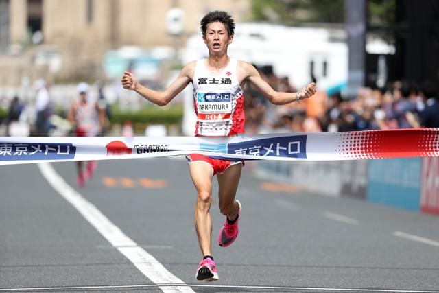 MGCを制した中村匠吾(写真)と2位の服部勇馬が東京五輪のマラソン代表に内定。序盤から目まぐるしい展開となったレースを上野裕一郎氏が解説