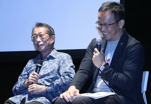 講演にはラグビージャーナリストの小林深緑郎氏、村上晃一氏が講師として参加
