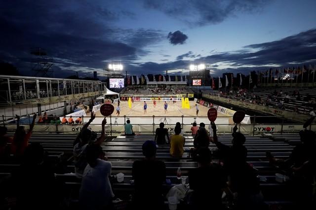 7月にオリンピックのテストイベントを兼ねて行われたビーチバレーボールワールドツアー東京大会で、各種テストが行われた