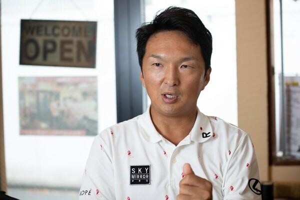 キャディ目線でZOZOチャンピオンシップの見どころを解説してくれた進藤キャディ