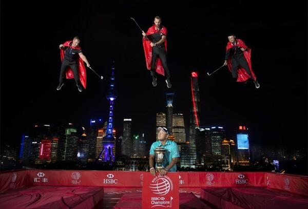 2017年に、中国の上海で開催された「HSBCチャンピオンズ」のプロモーションイベント