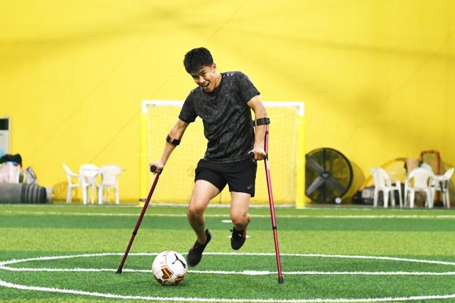 実際に体験して、アンプティサッカーの魅力・伸びしろを感じたようだ