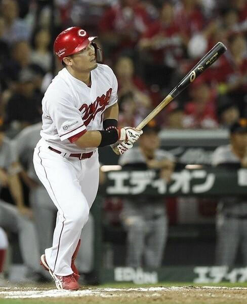 首位打者、最高出塁率のタイトルに輝いた広島・鈴木。守備や走塁でも高い数値を記録した