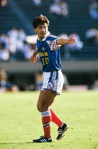 水沼氏の日産、横浜M時代の先輩にあたる木村和司。Jリーグ夜明け前の日本代表の10番で、スター選手だ。
