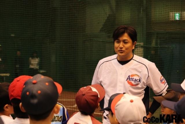 高橋由伸さんが野球教室で子供たちを指導、「試合で打つためには?」の質問に・・・