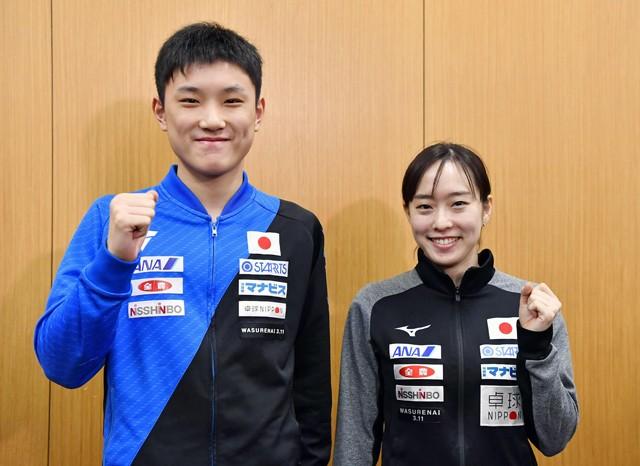 張本(左)、石川ら東京五輪の卓球代表が決定。リオ五輪でメダル3つを獲得した日本は、果たして東京ではどんな結果を残せるか