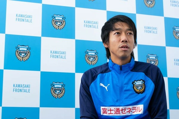 19年11月2日の広島戦、後半18分に相手選手と接触した中村は負傷。それでも、そのときのプレーに後悔はない