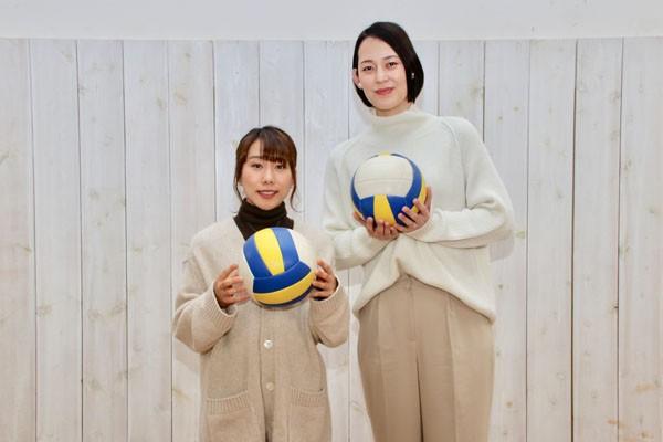 今後の夢について熱く語り合ってくれた大山加奈さん(右)と今井美亜選手