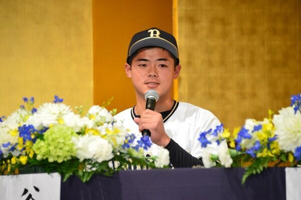 オリックスに育成ドラフト2位で入団した谷岡楓太。高校入学時は125キロほどだった速球は、いまや150キロを超えるようになった