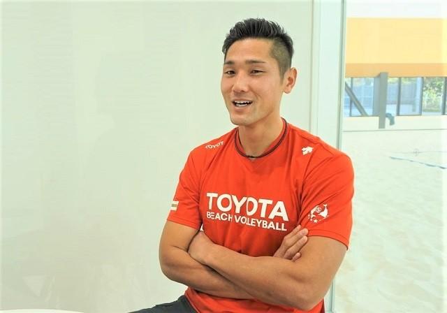 ビーチバレーボールで東京五輪出場を目指す石島雄介に、競技観戦のポイントやインドアとビーチの違いについて聞いた