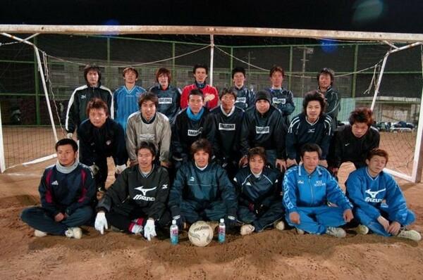 地域リーグに所属していた06年のファジアーノ岡山。この直後に木村社長が就任