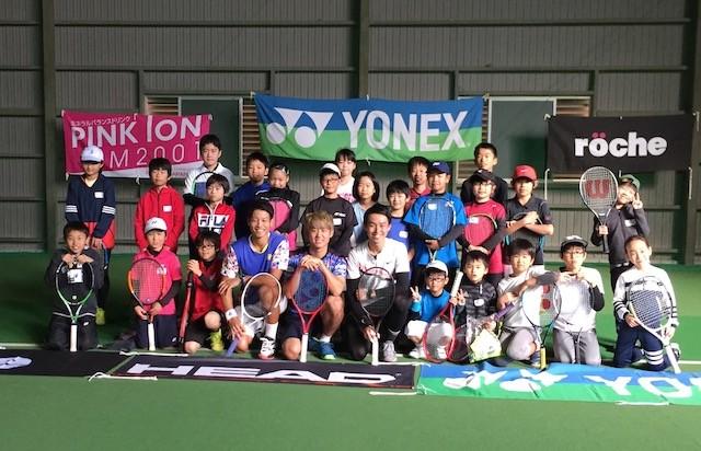 """2018年に西岡は""""地域活性化プロジェクト""""と銘打つテニスクリニック&ファン交流会を地元・三重で開催した"""