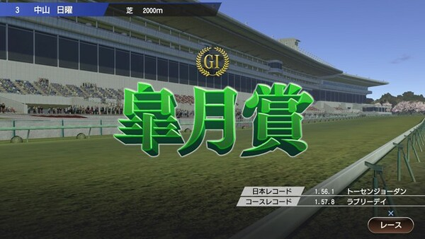 このゲーム画面のように、満員の観衆がレースを盛り上げる日常が早く帰ってきますように!