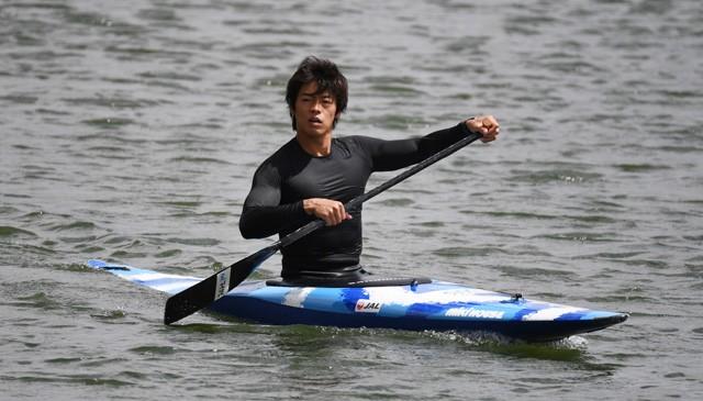 練習を終えた羽根田卓也選手